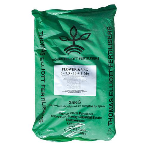 TE Flower And Veg Fertiliser (NPK 5-7.5-10+1Mg) (40/Pallet) [25kg] - Each