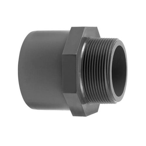 PVC Hex Adaptor [Plain x BSP(M)]