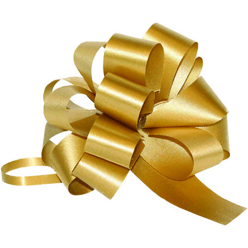 Pull Bow Christmas 49mm x 850mm Gold - Pack of 10