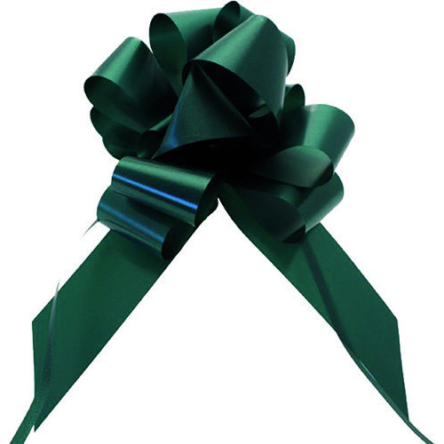Pull Bow Christmas 49mm x 850mm - Racing Green - Pack of 10