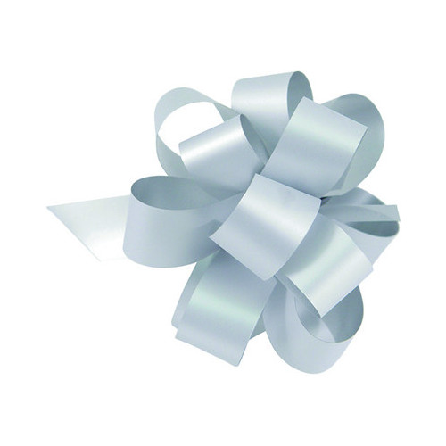 Pull Bow Christmas 49mm x 850mm - Silver - Pack of 10